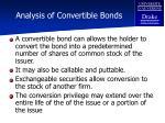 analysis of convertible bonds