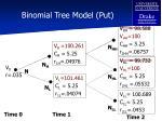 binomial tree model put