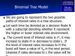 binomial tree model