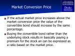 market conversion price55
