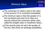 minimum value