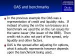 oas and benchmarks