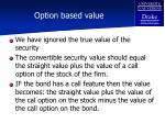 option based value