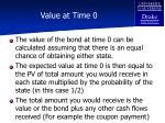 value at time 0