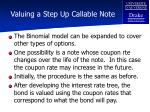 valuing a step up callable note