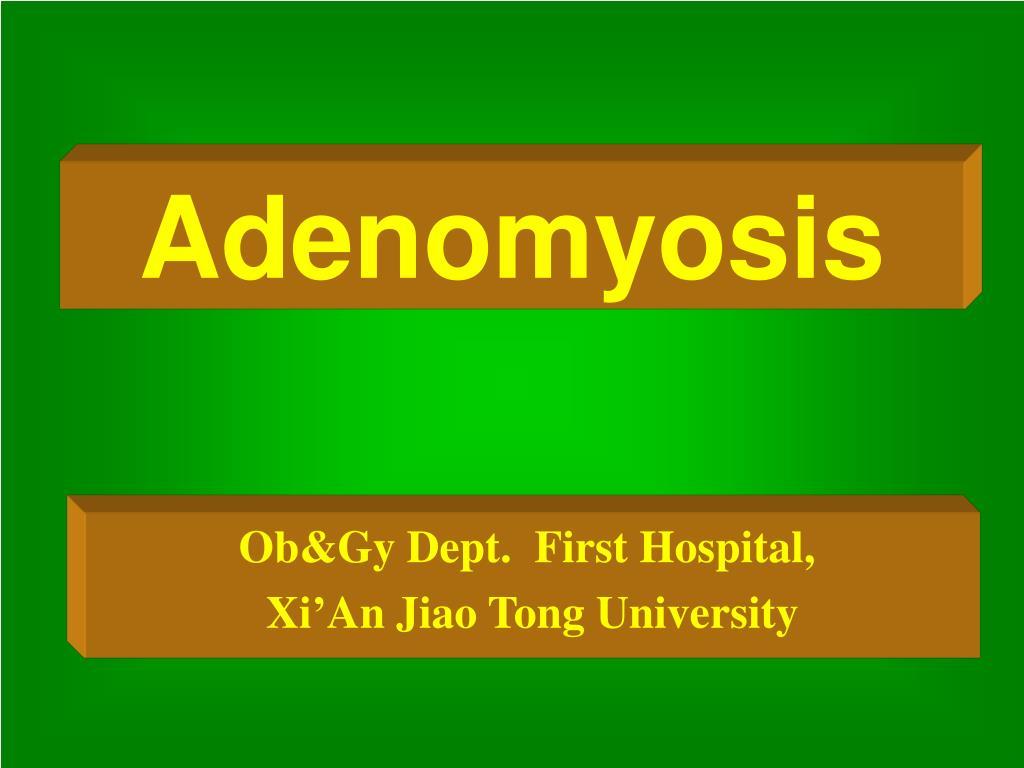 ob gy dept first hospital xi an jiao tong university