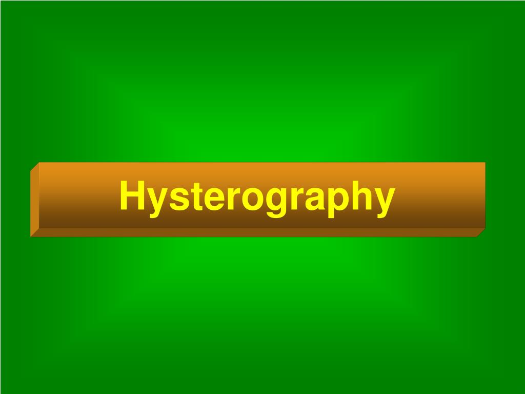 Hysterography