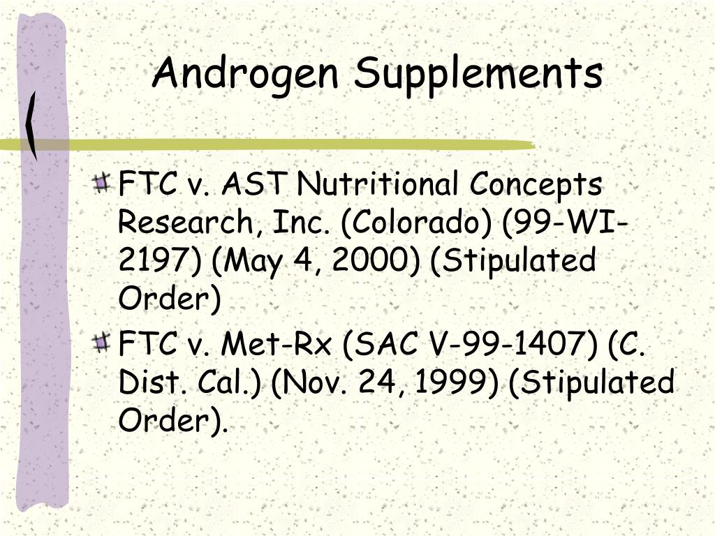 Androgen Supplements