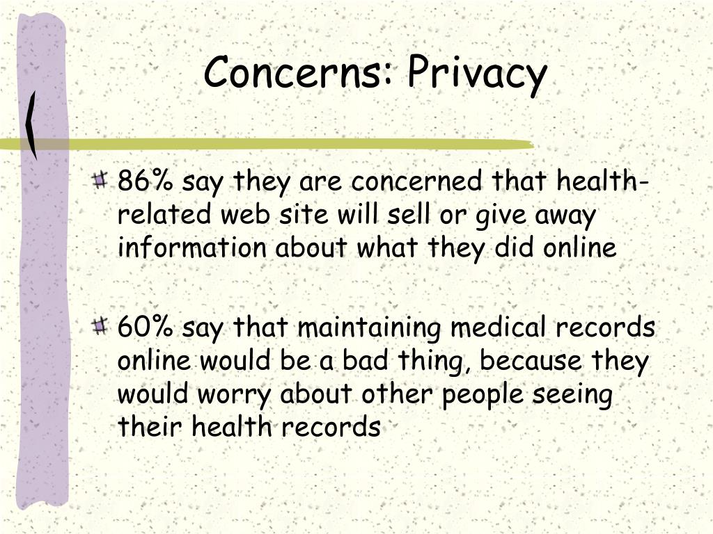 Concerns: Privacy