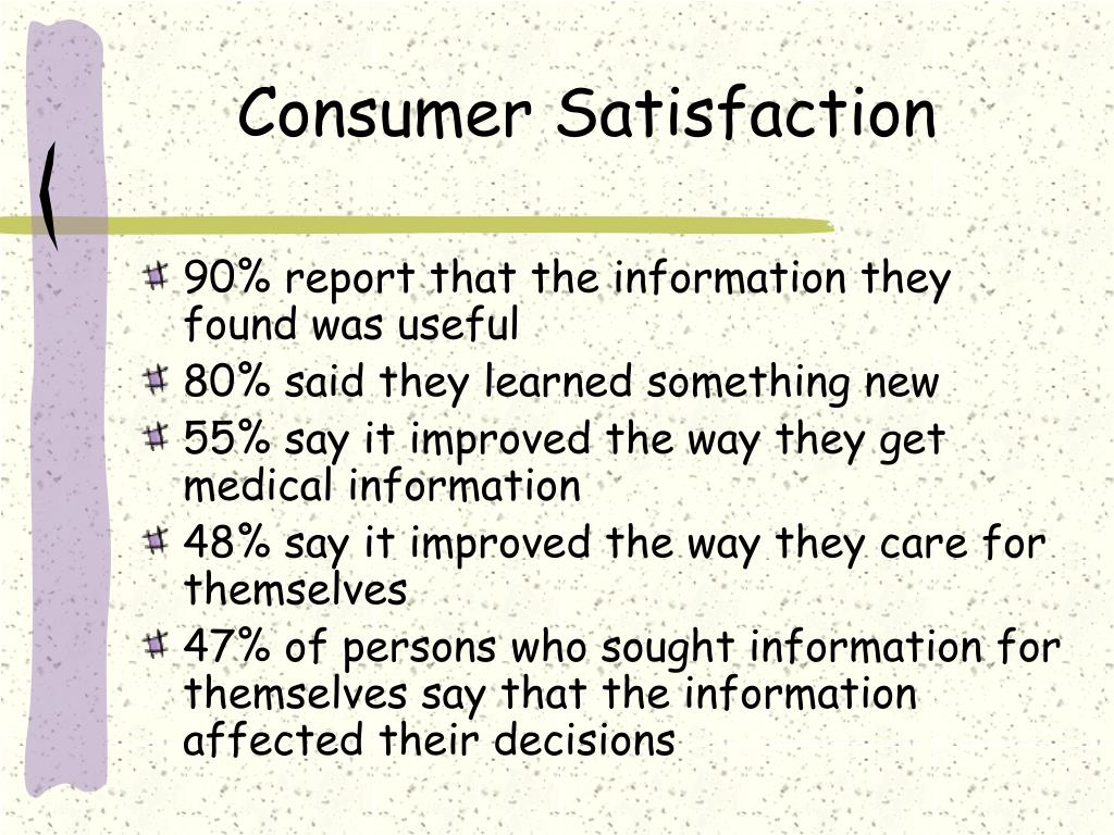 Consumer Satisfaction