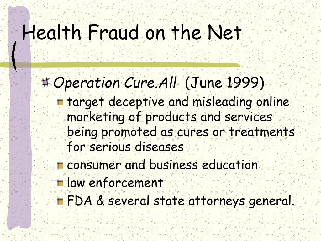 Health Fraud on the Net