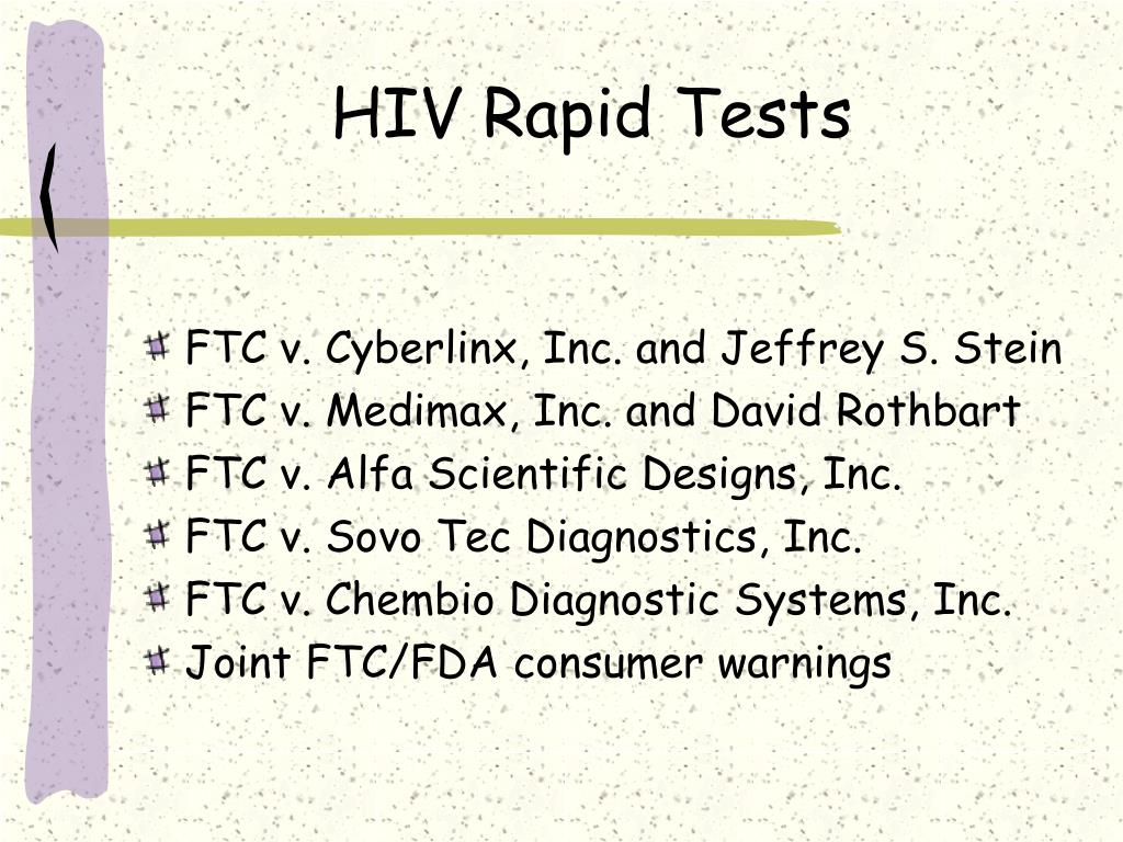 HIV Rapid Tests
