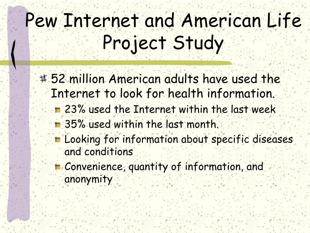 Pew Internet and American Life Project Study