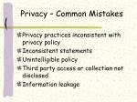 privacy common mistakes