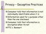 privacy deceptive practices