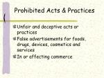 prohibited acts practices
