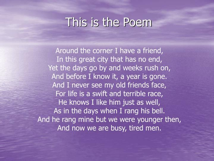 This is the Poem