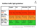 nutrition traffic light guidelines