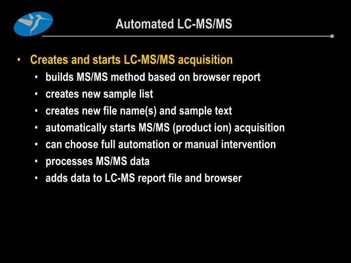 Automated LC-MS/MS