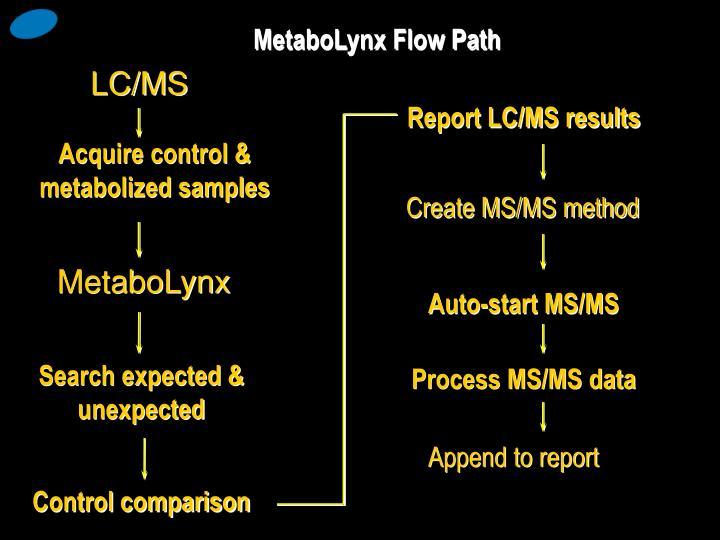 MetaboLynx Flow Path