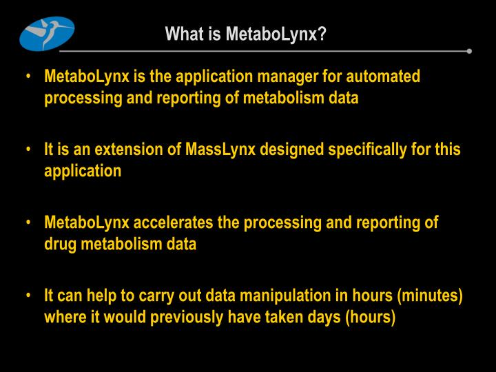 What is MetaboLynx?
