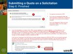 submitting a quote on a solicitation step 6 finished