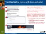 troubleshooting issues with the application