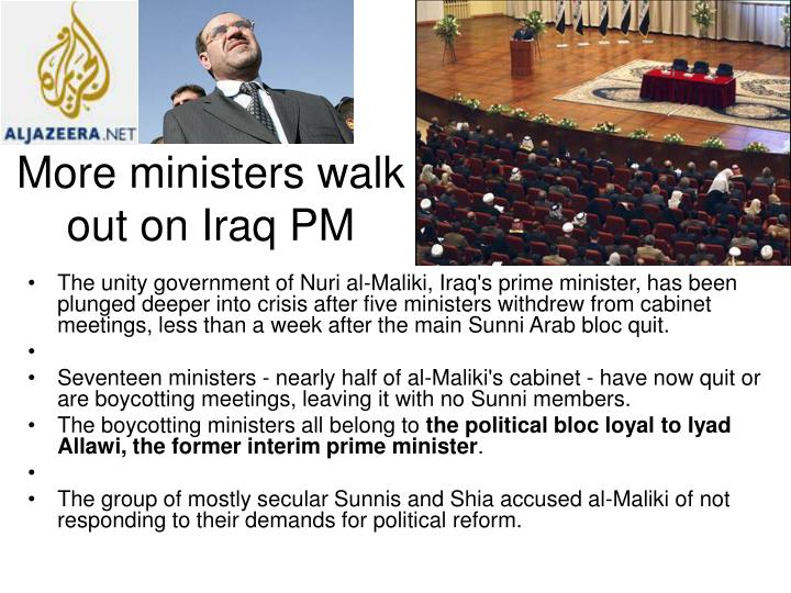 More ministers walk out on Iraq PM