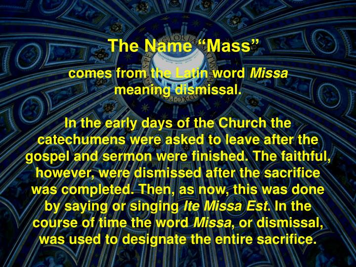 "The Name ""Mass"""