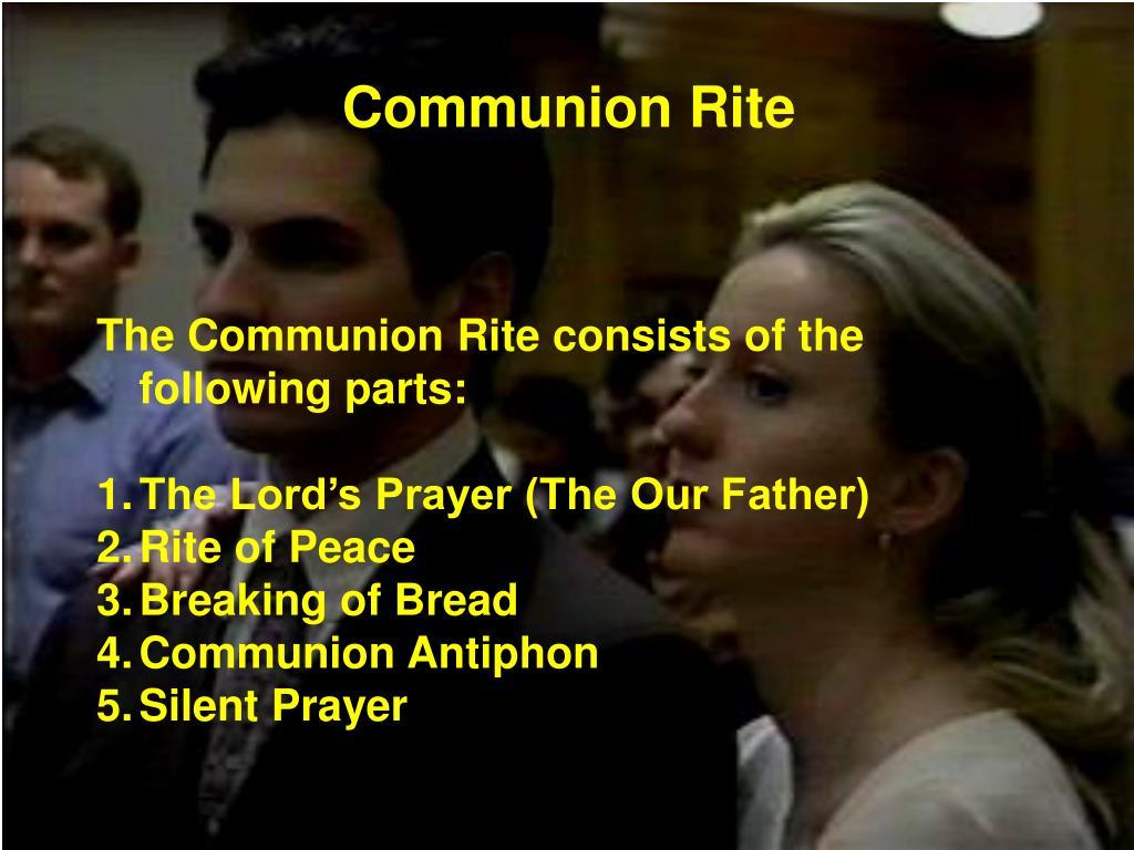 Communion Rite