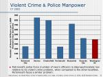 violent crime police manpower cy 2003