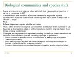 biological communities and species shift