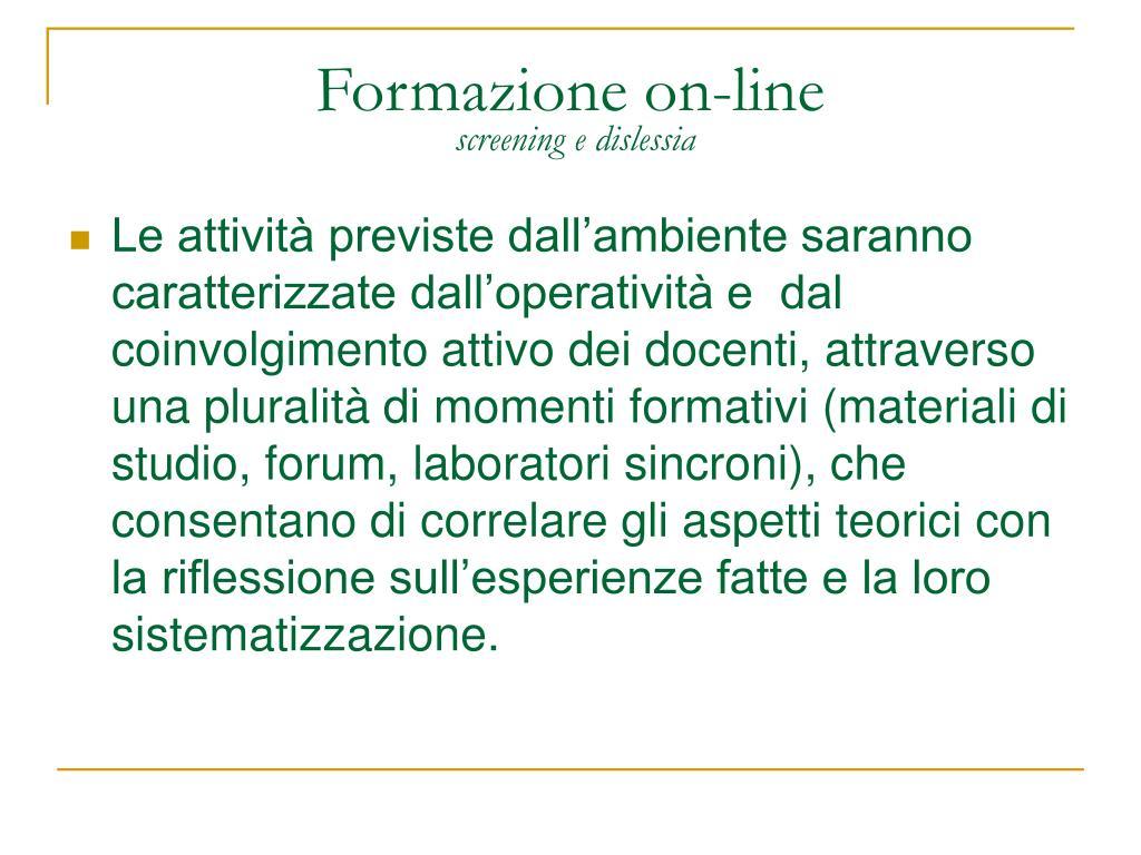 Formazione on-line