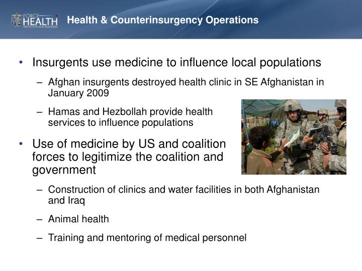 Health & Counterinsurgency Operations