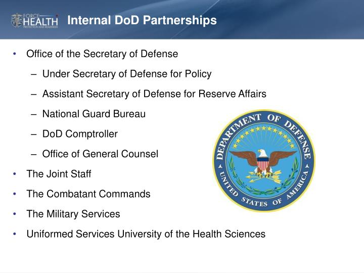 Internal DoD Partnerships
