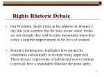 rights rhetoric debate