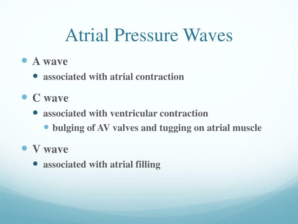 Atrial Pressure Waves