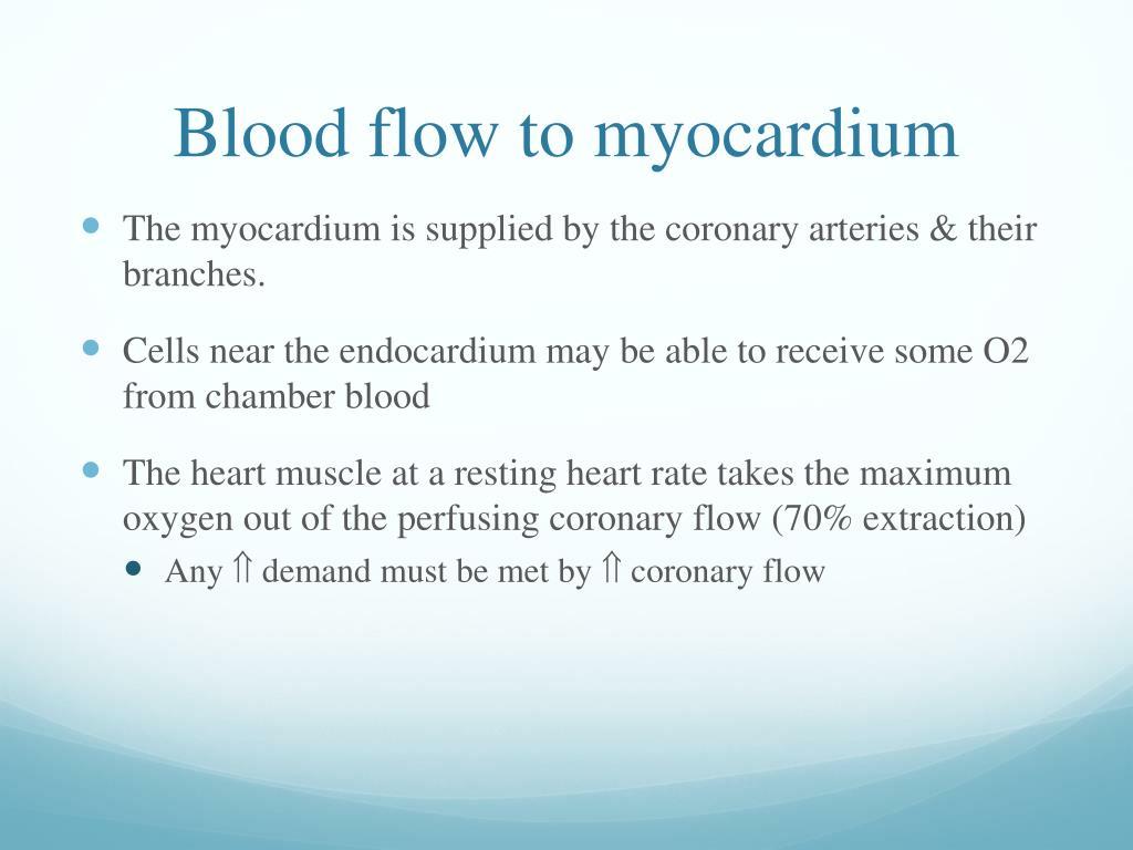 Blood flow to myocardium