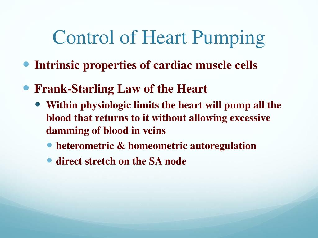 Control of Heart Pumping