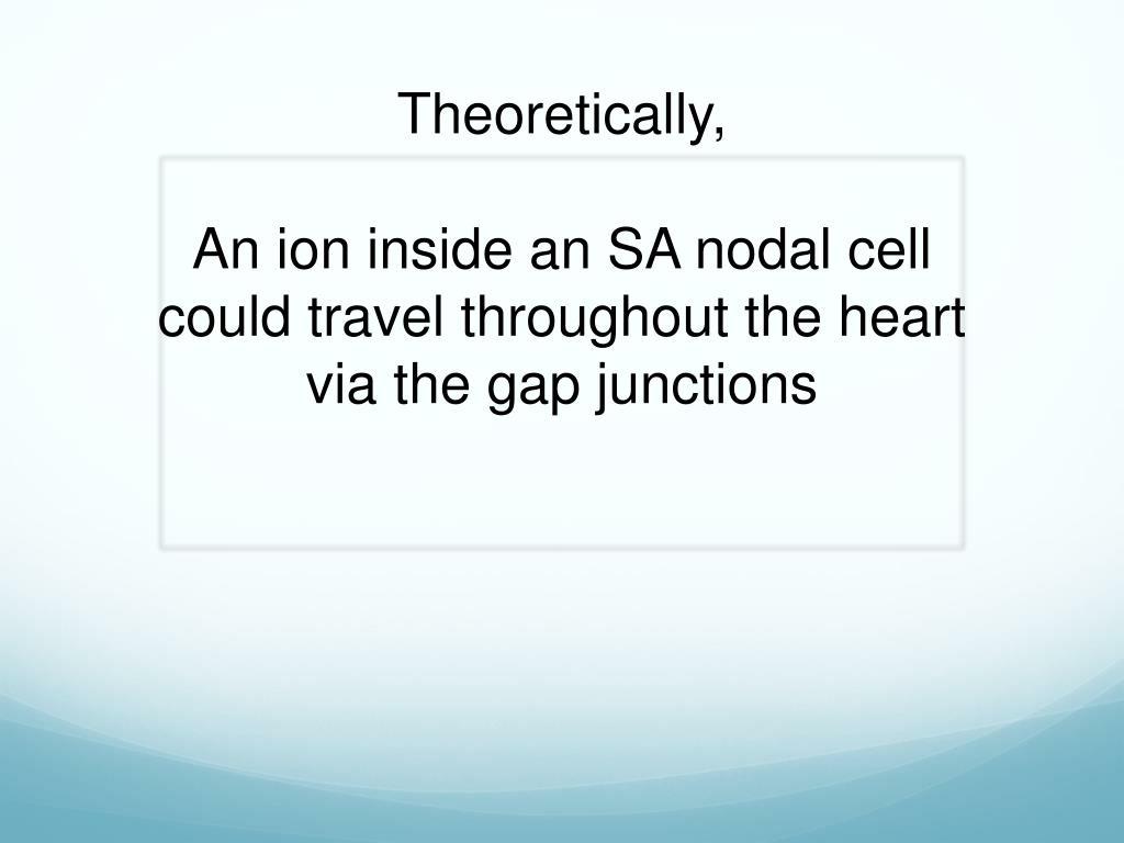 Theoretically,