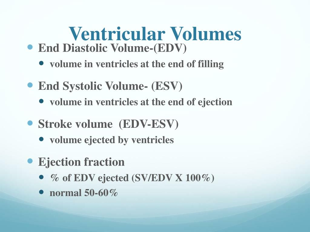 Ventricular Volumes