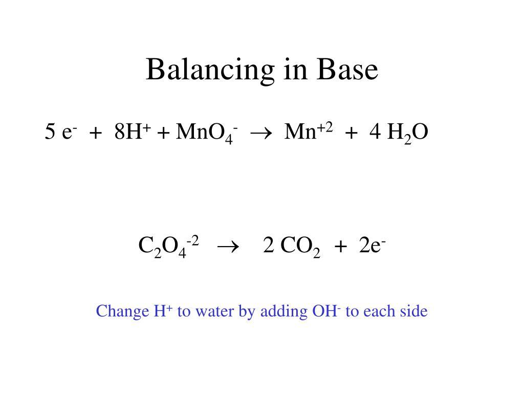 Balancing in Base