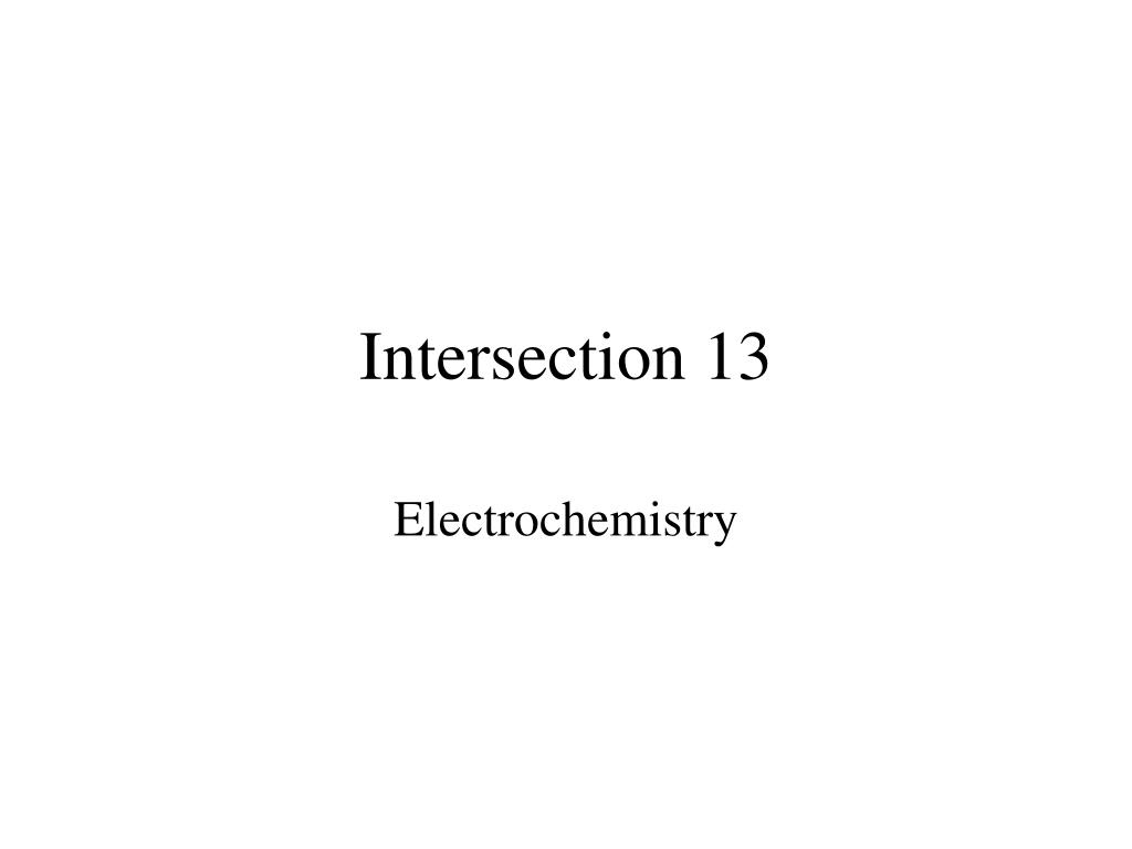 Intersection 13