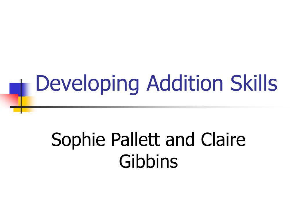 developing addition skills