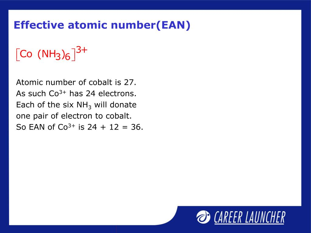 Effective atomic number(EAN)
