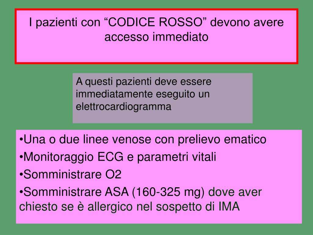"""I pazienti con """"CODICE ROSSO"""" devono avere accesso immediato"""