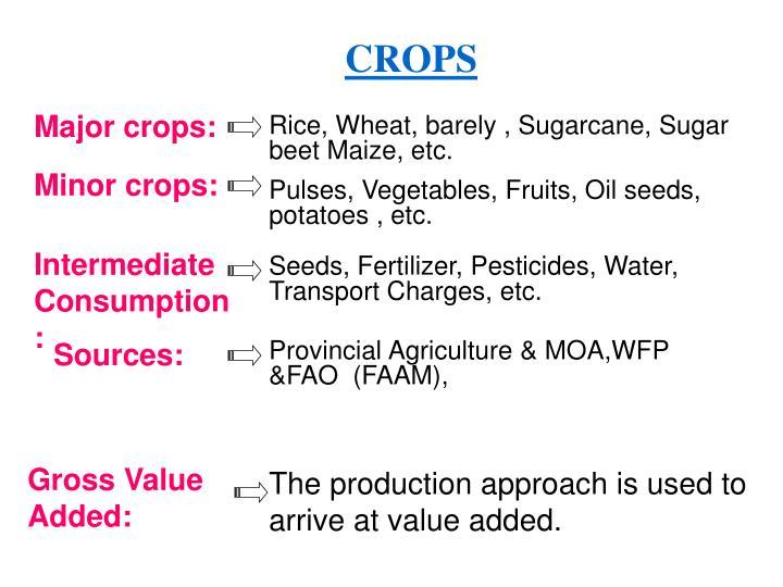 Major crops: