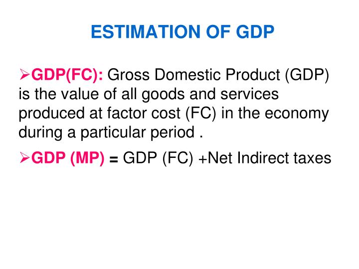 ESTIMATION OF GDP