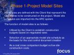phase 1 project model sites