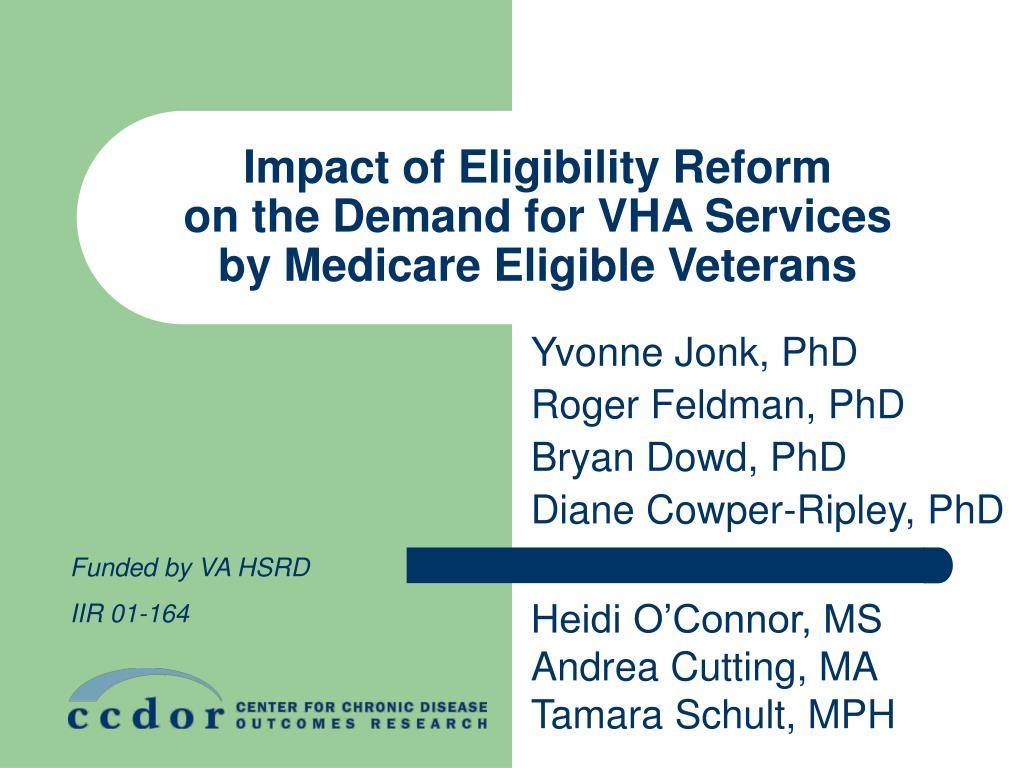 Impact of Eligibility Reform